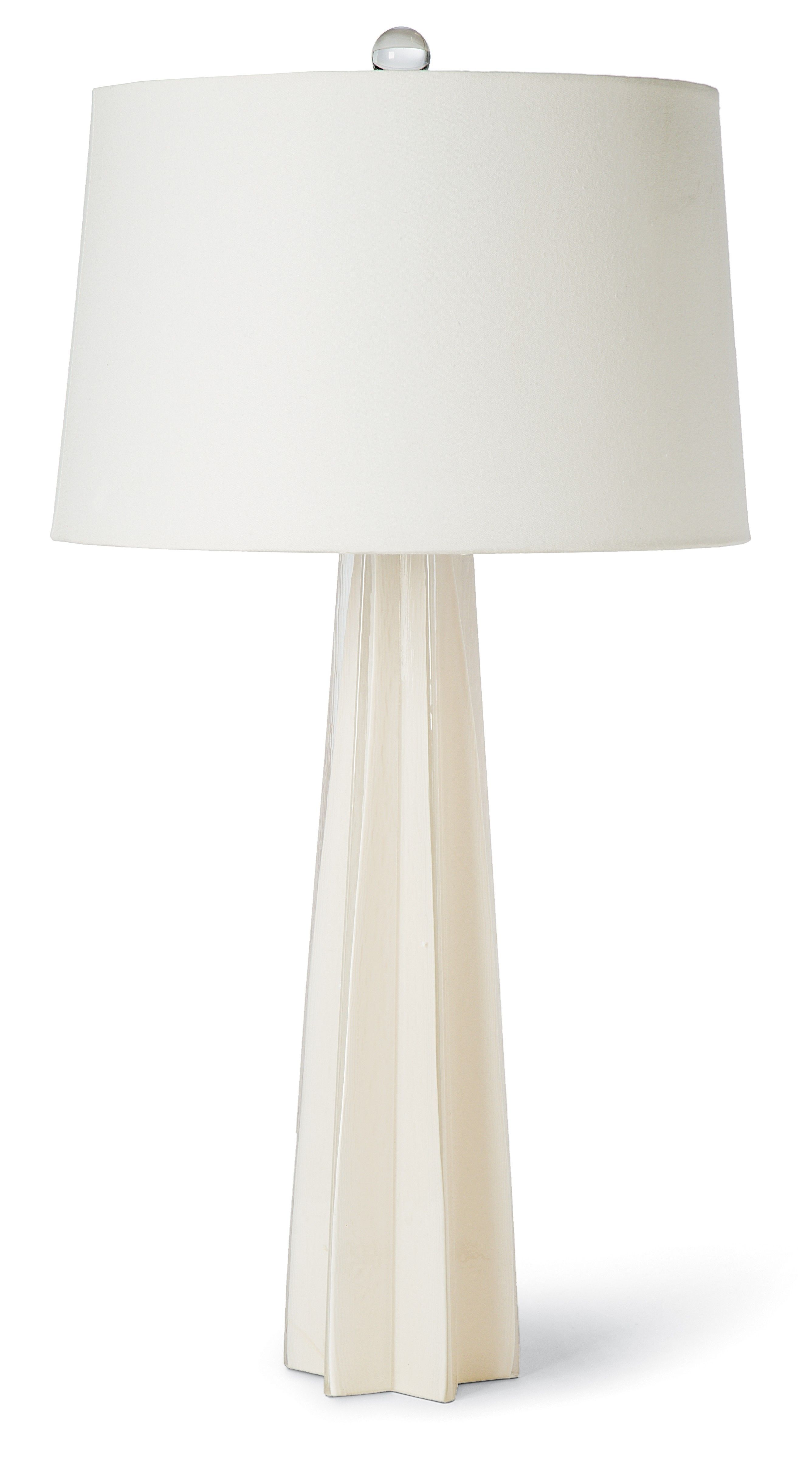 White table lamp that fits all room interiors